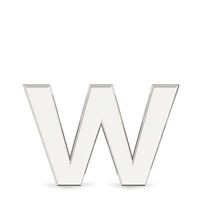 """Подвеска Буква """"W"""" из белого золота от Небо в алмазах"""