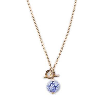 Колье Шар с цветами с мурано весом 35.0 карат из красного золота 585 пробы Небо в алмазах 28000.000